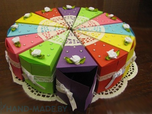 Торт из бумаги своими руками на день рождения ребенка