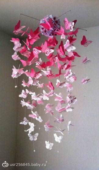 Мобиль с бабочками своими руками